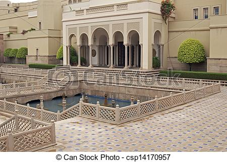 Stock Images of Mughal Style Luxury Hotel.