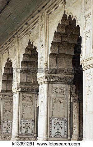 Stock Photography of Mughal Style Arches k13391281.