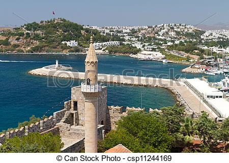 Stock Image of Bodrum Town from Mugla, Turkey csp11244169.