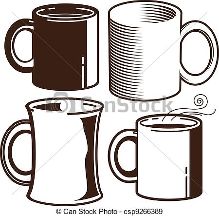 EPS Vectors of Coffee Mugs.