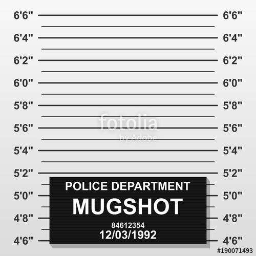 Criminal mug shot line. Police mugshot add a photo. Blank.