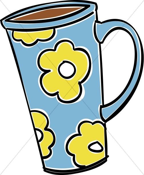Tall Coffee Mug Clipart.