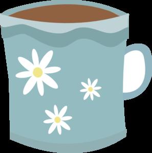 Cute coffee mug clipart.