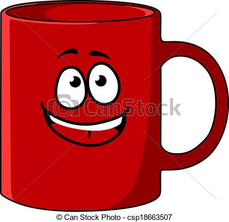 Large Red Mug Clipart.