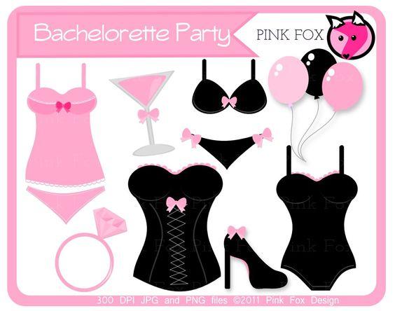 INSTANT DOWNLOAD, Bachelorette party clip art.