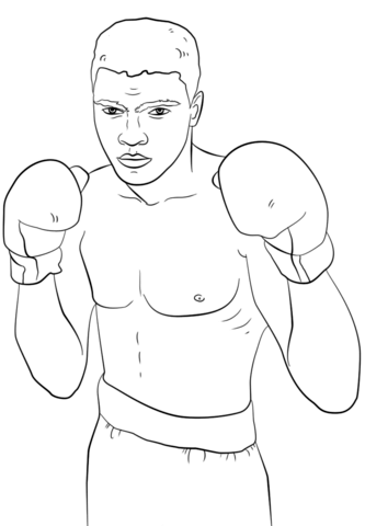 Muhammad Ali coloring page.