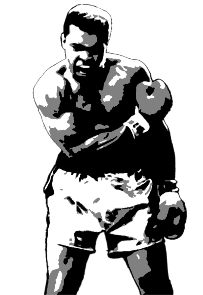 muhammad ali coloring pages - muhammad ali clip art clipground