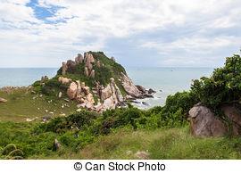 Stock Photography of Ke Ga beach at Mui Ne, Phan Thiet, Vietnam.