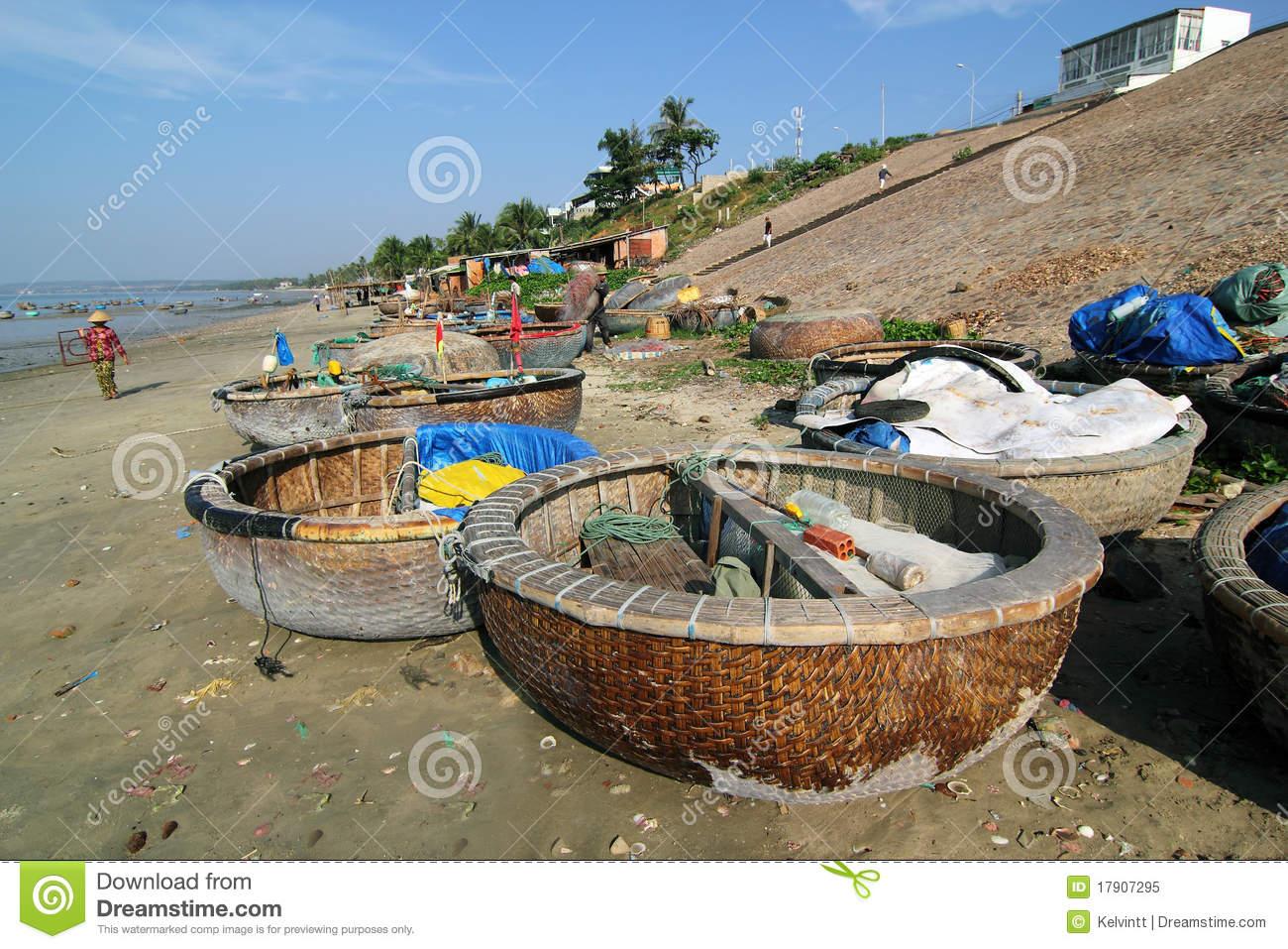Fishing Boats At Mui Ne, Vietnam Editorial Image.