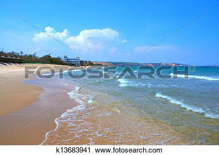 Stock Photography of Pure sea in Mui ne bay, Vietnam k13683941.
