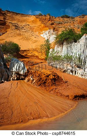 Stock Images of Red river canyon, Mui Ne, Vietnam.