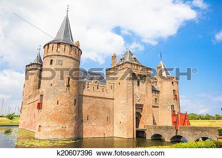 Stock Images of Muiderslot, Castle in Muiden, The Netherlands.