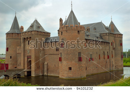 View Of Muiderslot Castle, The Netherlands Stock Photo 94101232.