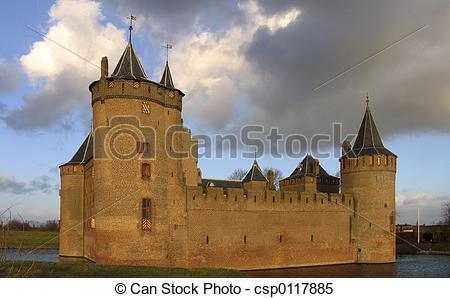 Stock Images of Dutch castle 14.
