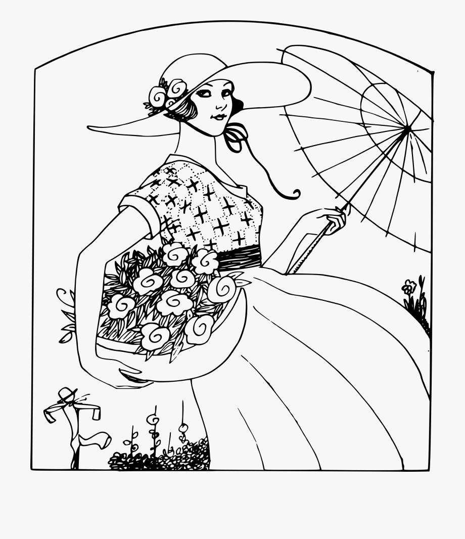 Flower Basket Lady.