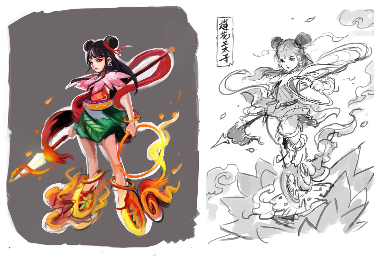 Nezha by muju on DeviantArt.
