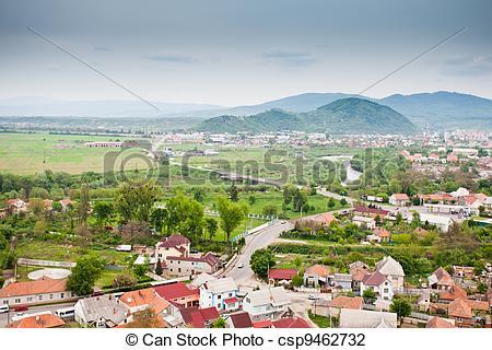 Stock Photo of Mukachevo view, city located in the Zakarpattia.