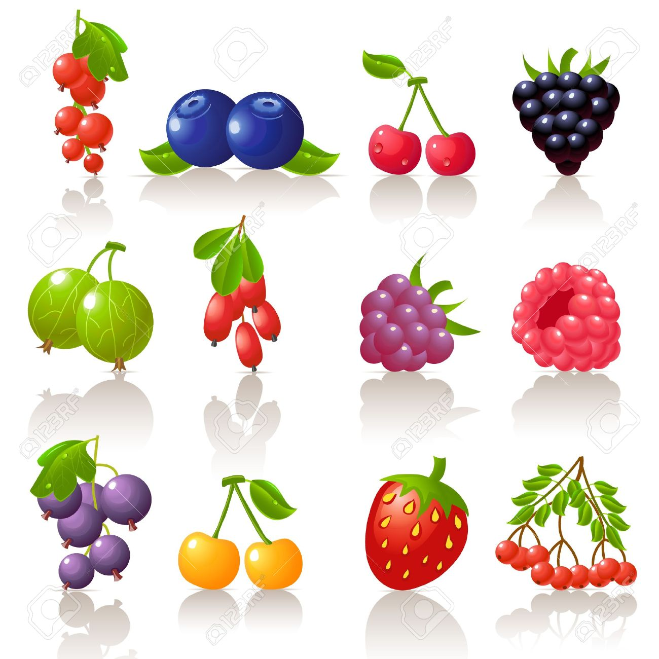 Berry Icon Set Royalty Free Cliparts, Vectors, And Stock.