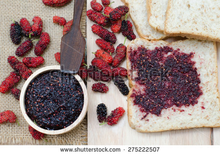 Mulberry Jam Stock Photos, Royalty.