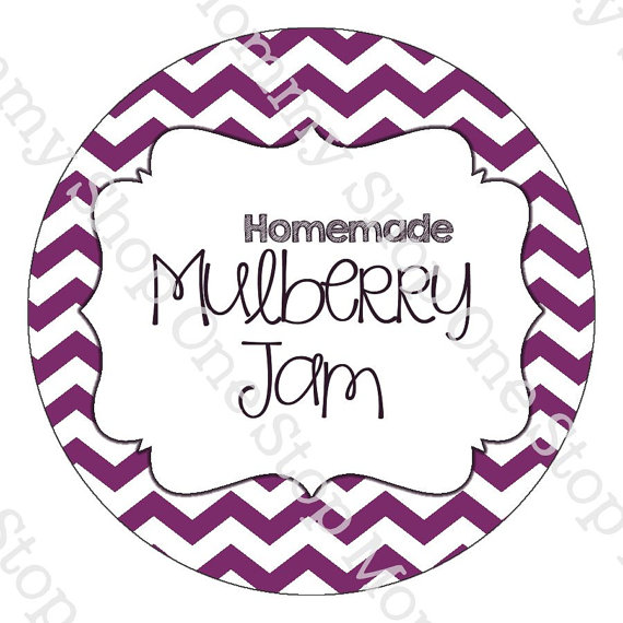 Mulberry Jam mason jar labels print at by TheOneStopMommyShop.