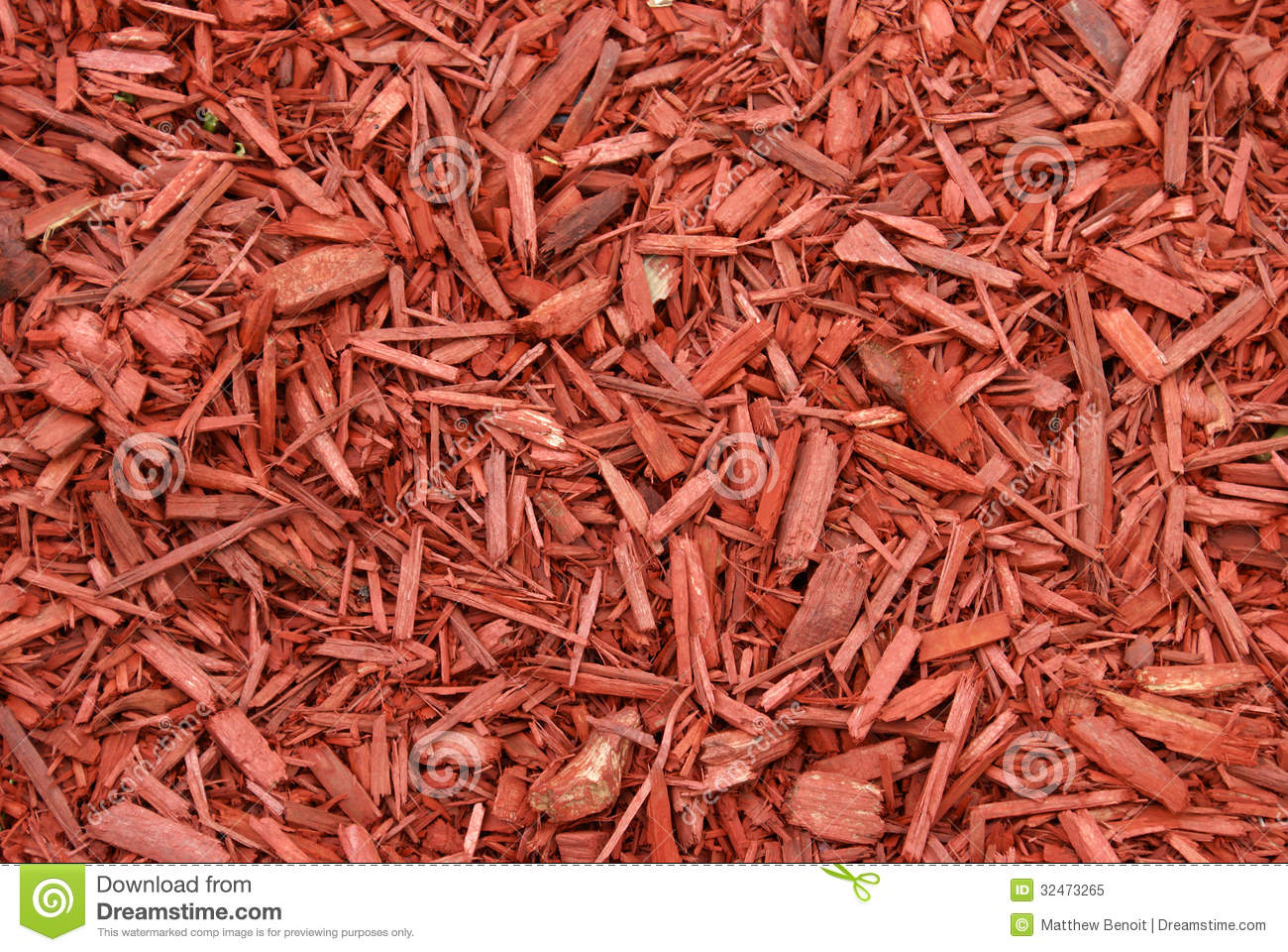 Red Mulch Royalty Free Stock Photo.