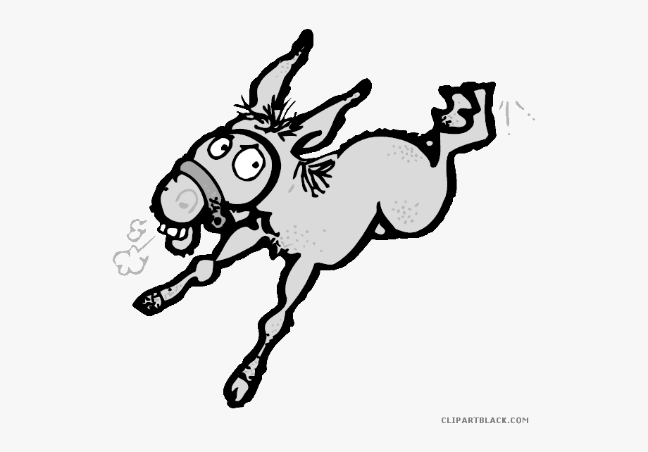 Mule Clipart Black And White.