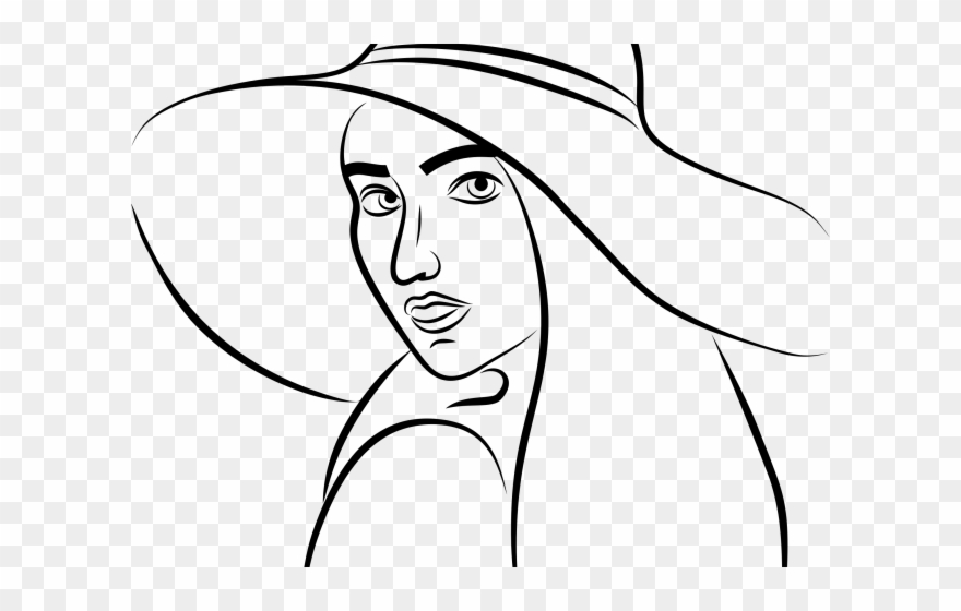 Woman Clipart Hat.
