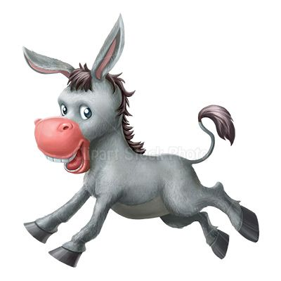 Cartoon Donkey Clipart Illustration, Royalty Free Mule Stock Image.