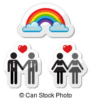 Vector Clip Art of Homosexual Couples.