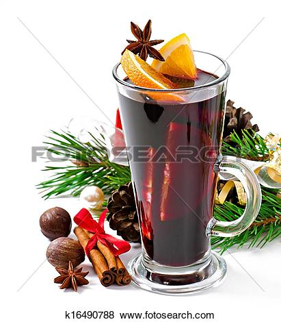 Pictures of Christmas mulled wine k16490788.