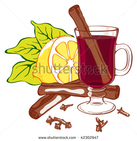 Mulled Wine Glass Stock Photos, Royalty.