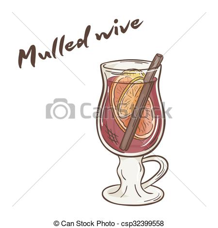 Clipart Vector of vector printable illustration of isolated cup of.