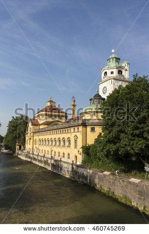 Isar River Stock Photos, Royalty.
