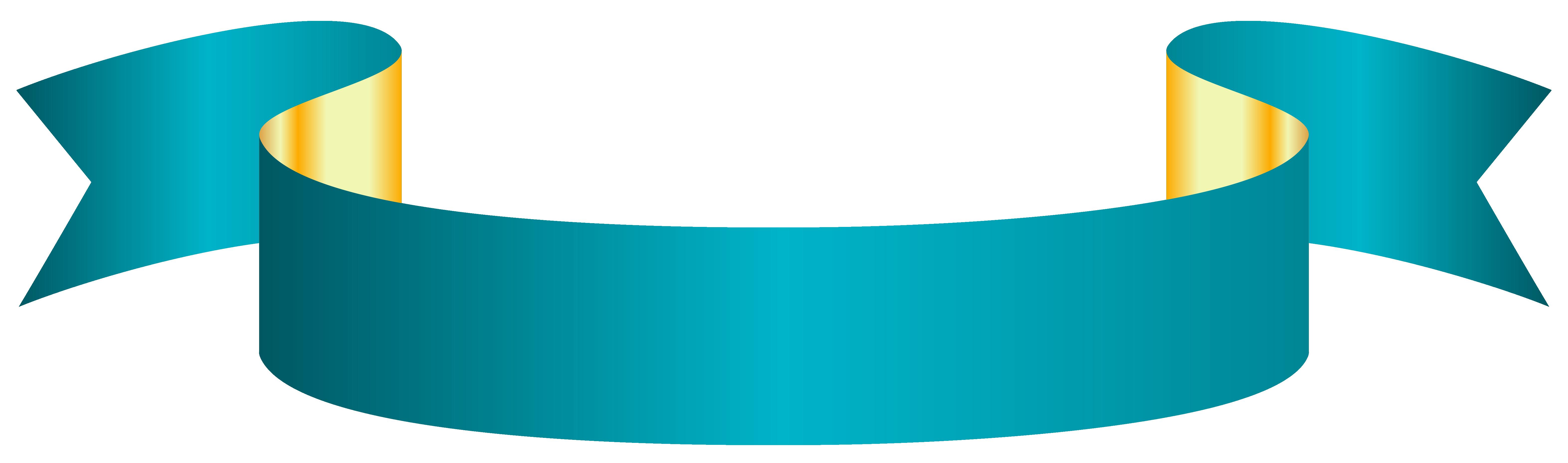 Blue Banner Transparent PNG Clip Art Image.