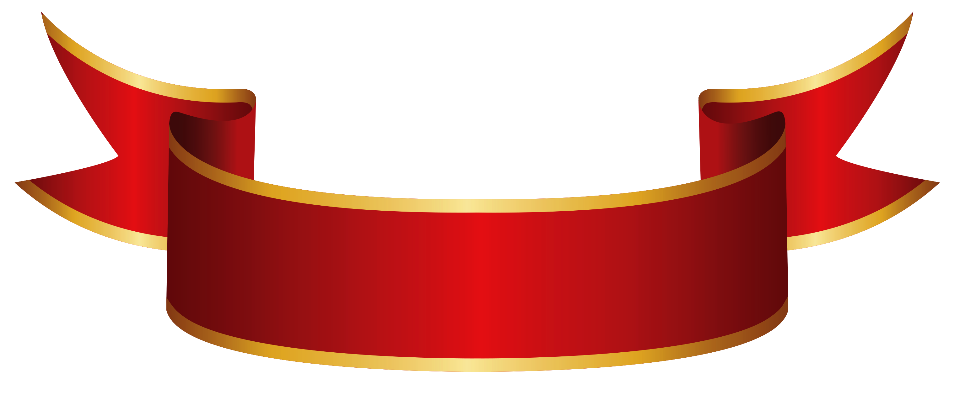 Red Banner PNG Clipart Image.