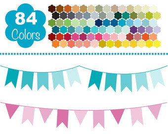 Bunting clipart pack.