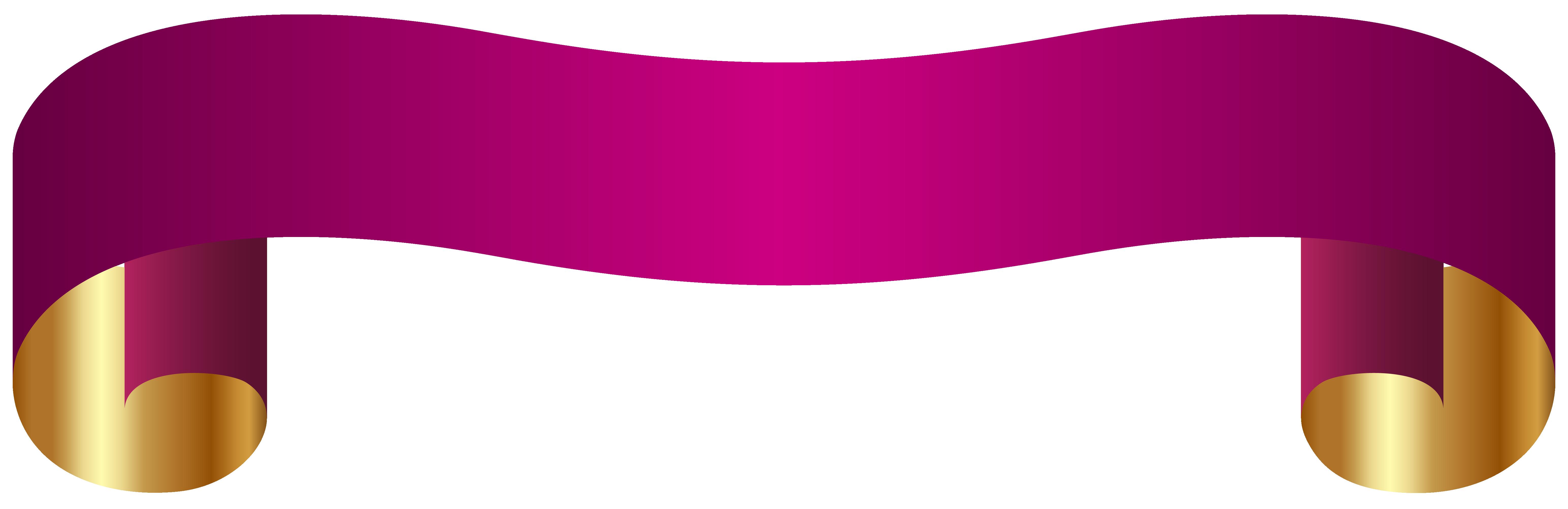 Banner Transparent PNG Clip Art Image.