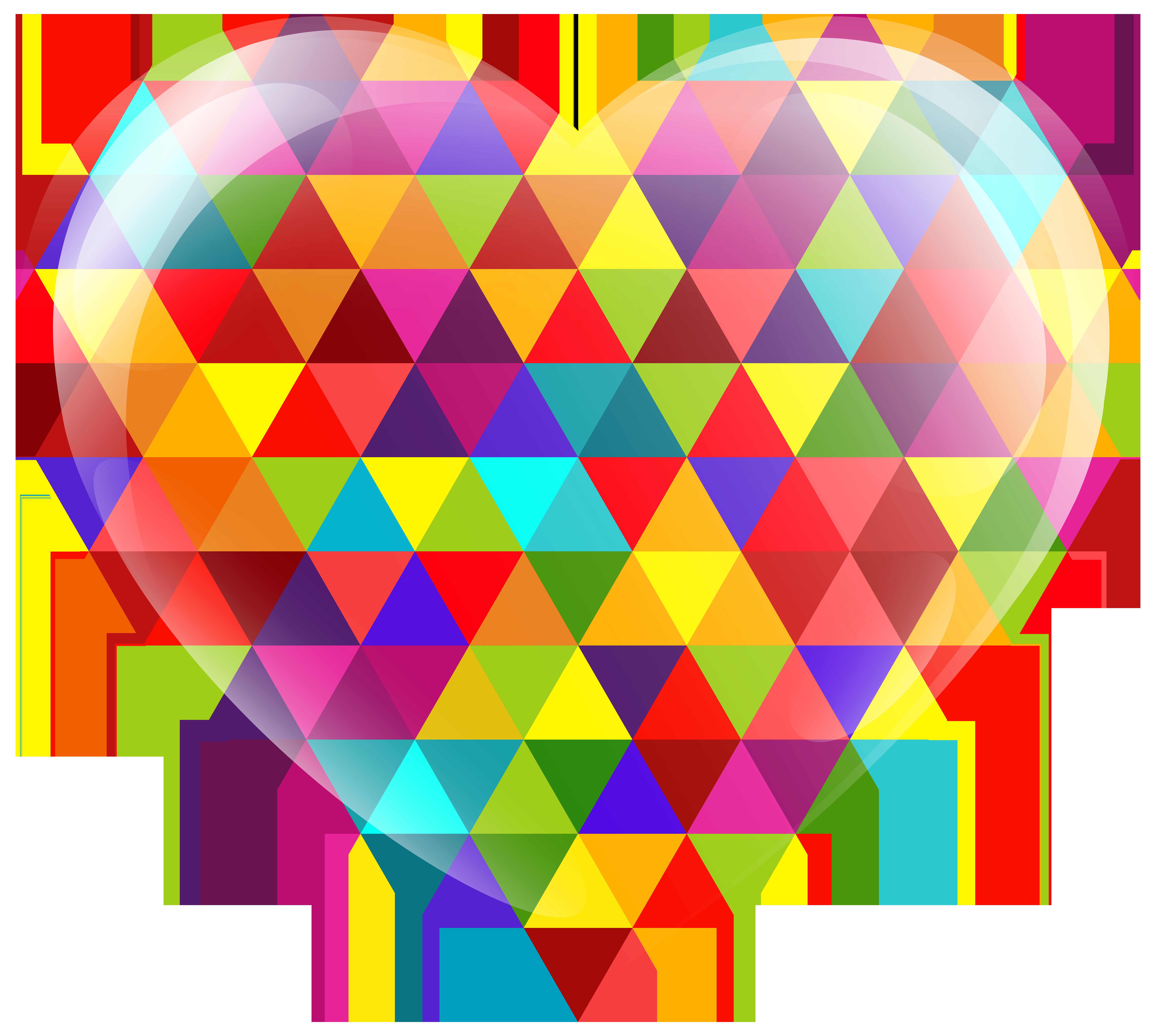 Multicolor Heart PNG Clip Art Image.