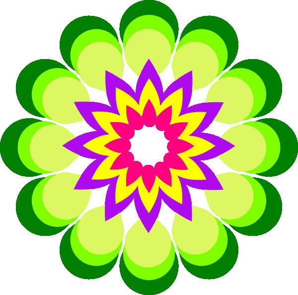 Geometric Flower Multicolor Clip Art at Clker.com.