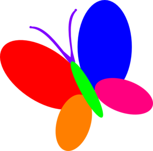 Multi Color Butterfly Clip Art at Clker.com.