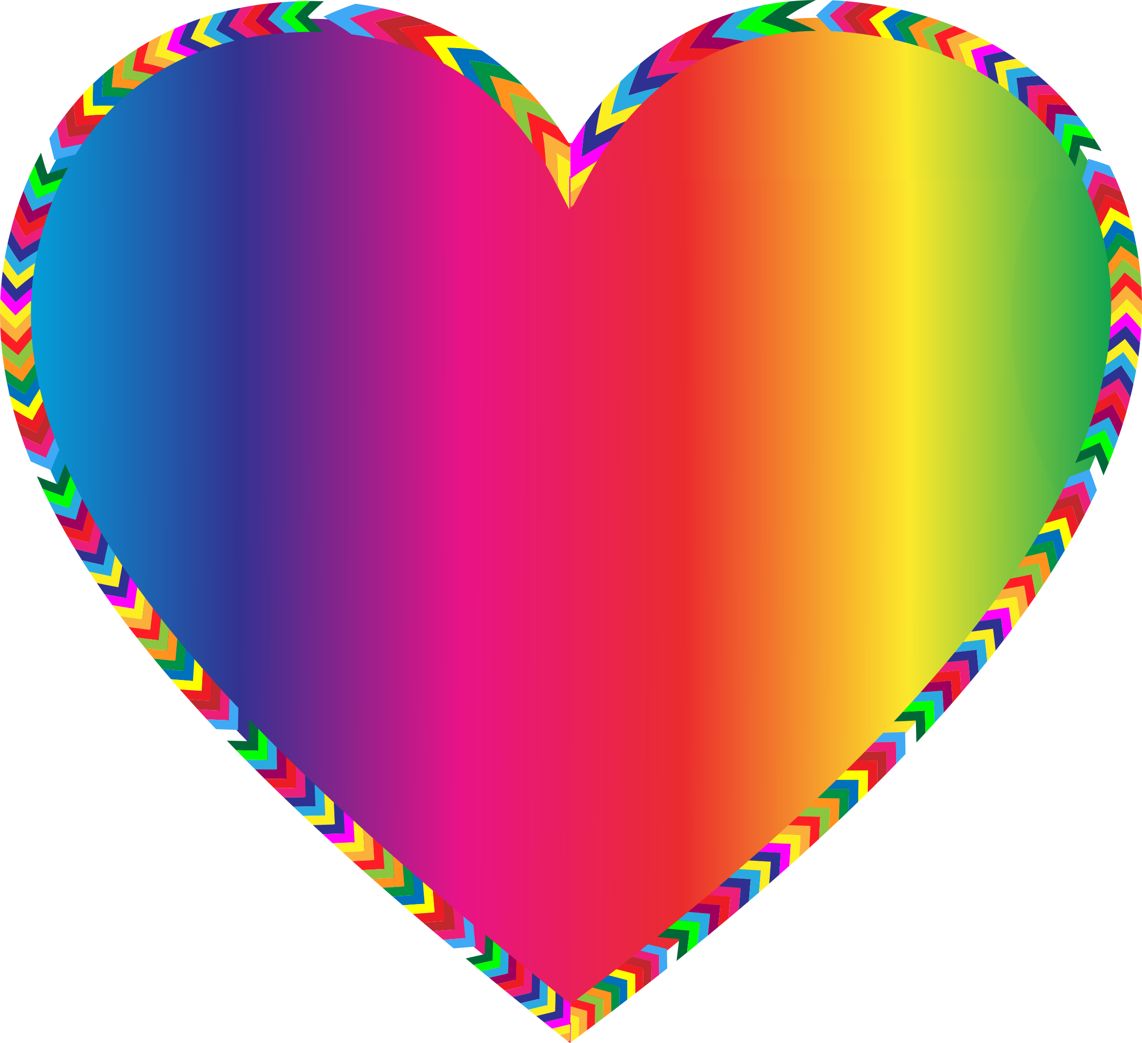 Multi color exploding heart clipart.