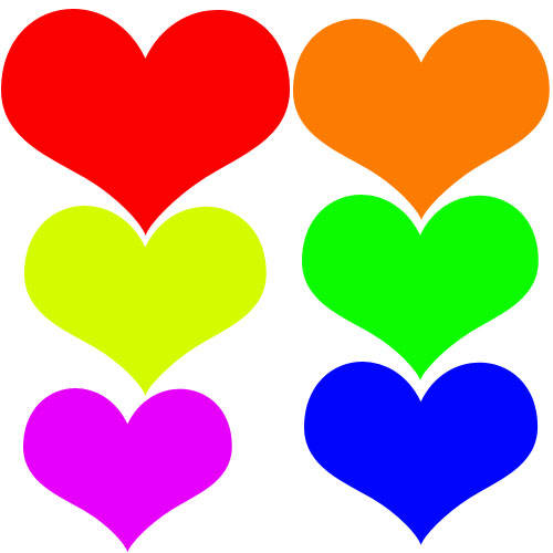 Colored Clipart Heart And Star.