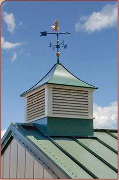 Adding a cupola to the roof of the garage and top it with a whale.