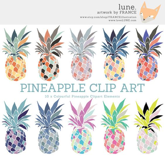 GET 3 FOR 2. Pineapple Clipart. Ananas Clip Art. Pina Clipart in.