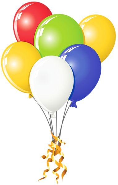 Transparent Multi Color Balloons PNG Picture Clipart.