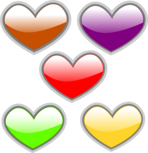 Clipart color heart.