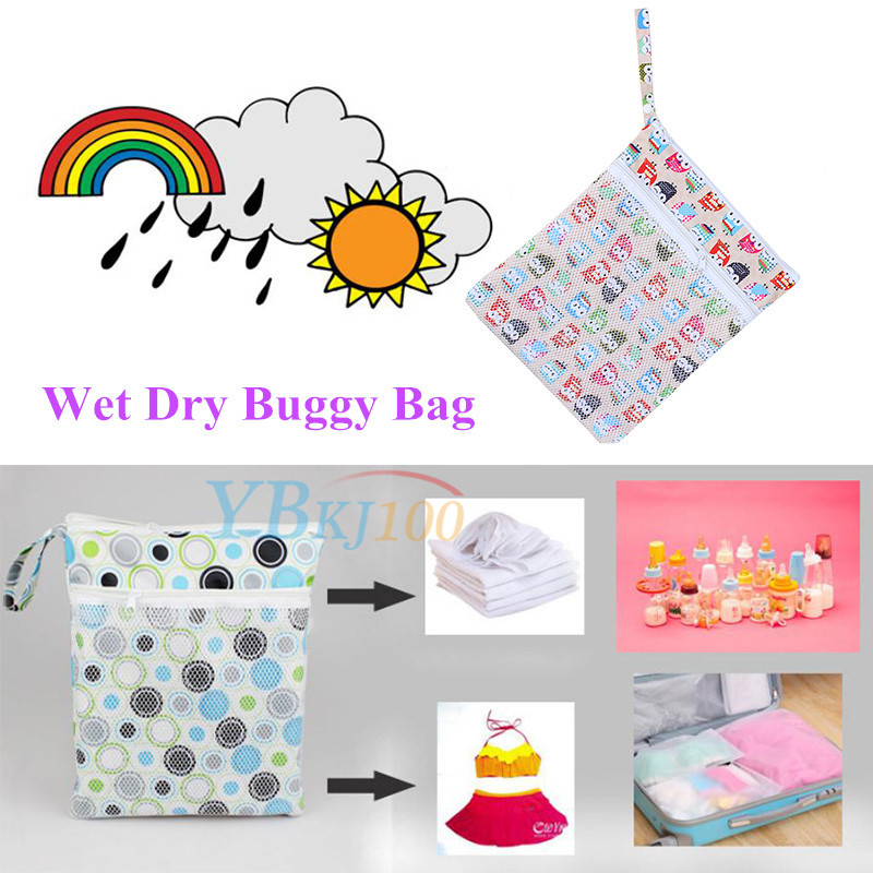 Reusable Multifunction Baby Cloth Diaper Nappy Wet Dry Bag Tote.