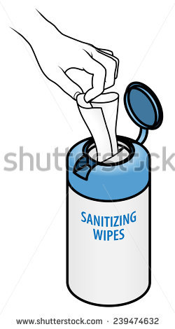 Hand Pulling Tissue Tub Wet Wipes Stock Vector 239474632.