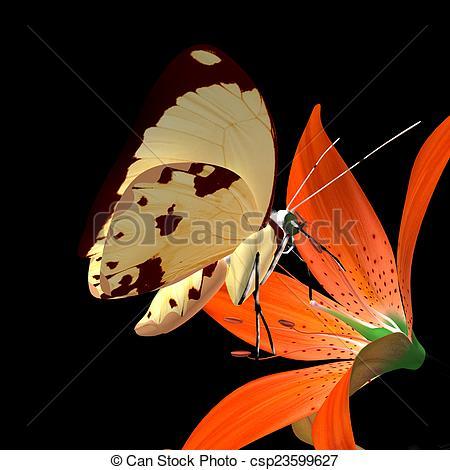 Clip Art of Cross pollination.