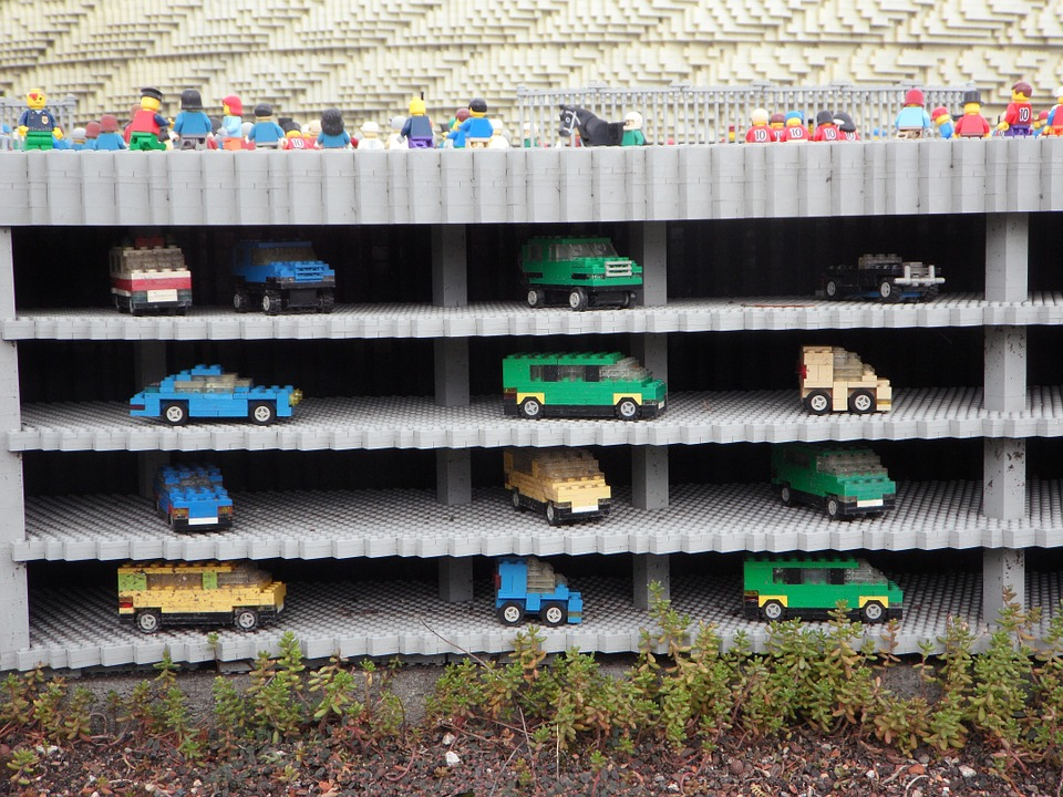 Free photo: Multi Storey Car Park, Legoland.